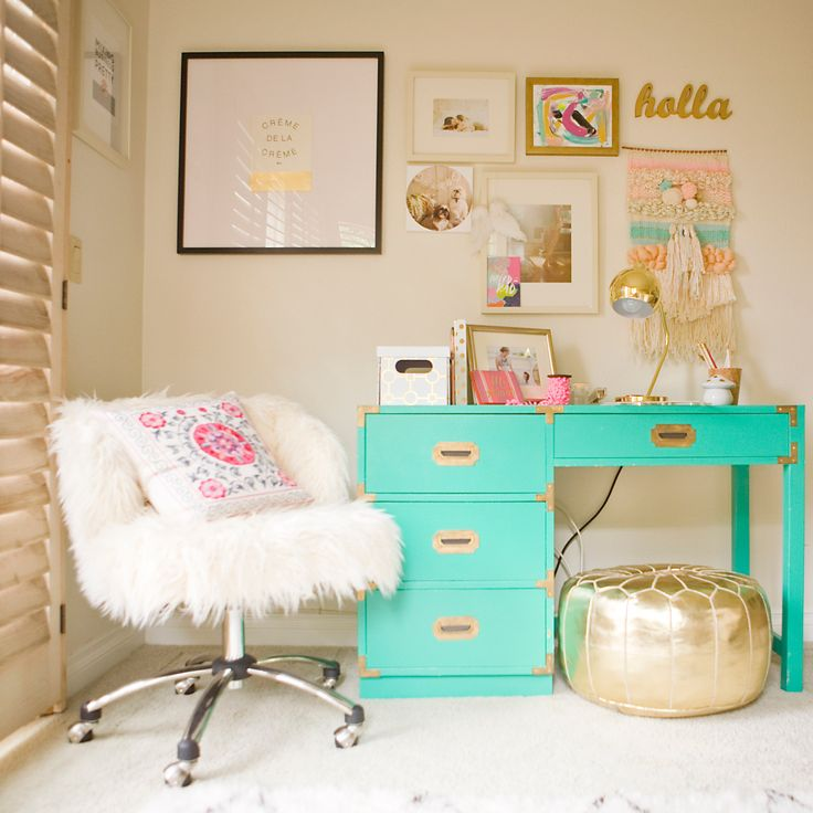 A Charming Desk Space with O My Darlings Blog