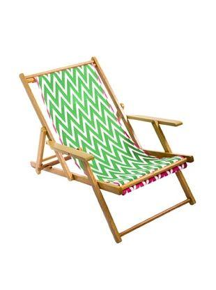 39% OFF Julie Brown Green/Pink Reversible Beach Chair