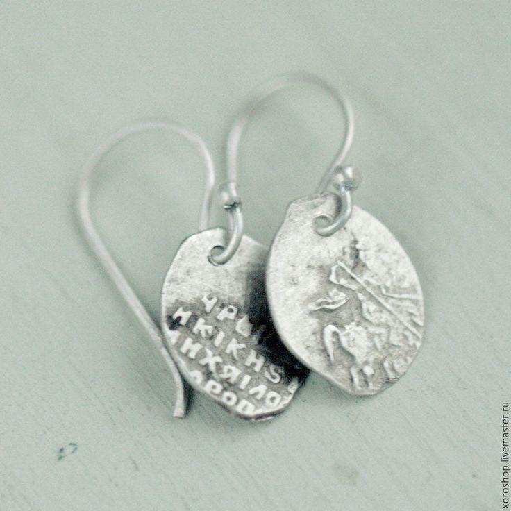 Купить серьги из монет Михаила Федоровича (1613-1645) - серебряный, антиквариат, антикварные украшения, исторический