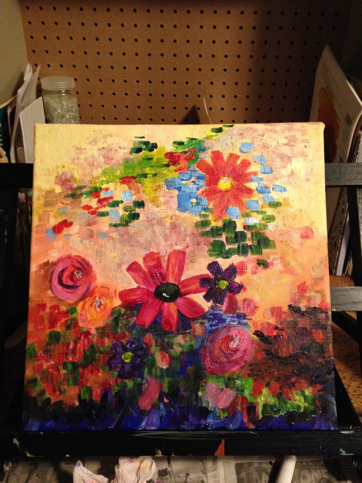 This is Judy's 3rd painting.  I'm happy when I paint! Jan. 2016
