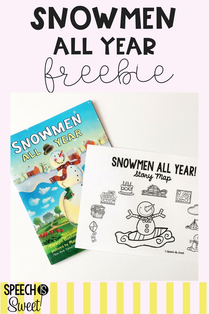 A freebie for Snowmen All Year! This is such a fun book to use in speech therapy any time during the year! Students will love retelling the story with this story map!