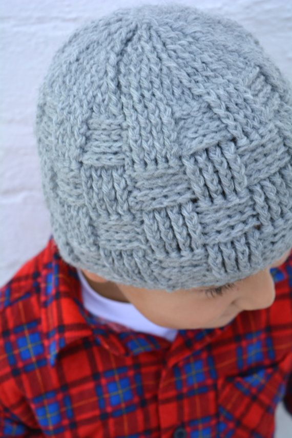 44d5412c75b Boys Hat Crochet Pattern in Babies Toddler Kids and Mens Sizes Basketweave  Beanie No.124 digital pattern