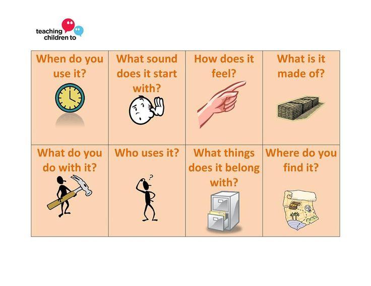 Vocabulary cue cards for nouns