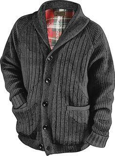 Duluth Trading Company Woolpaca Shawl Collar Cardigan - Navy - XL