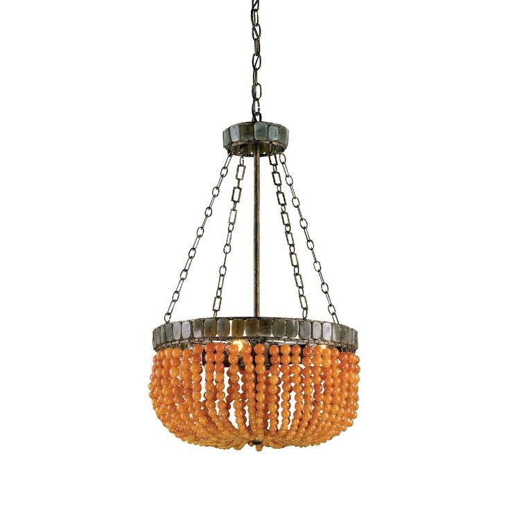 Study:  Lana Chandelier in Apricot by Currey and Company.