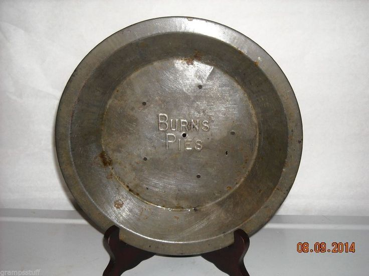Vintage Burns 9 in. metal pie pan & 53 best I collect old Pie Tins images on Pinterest | Advertising ...