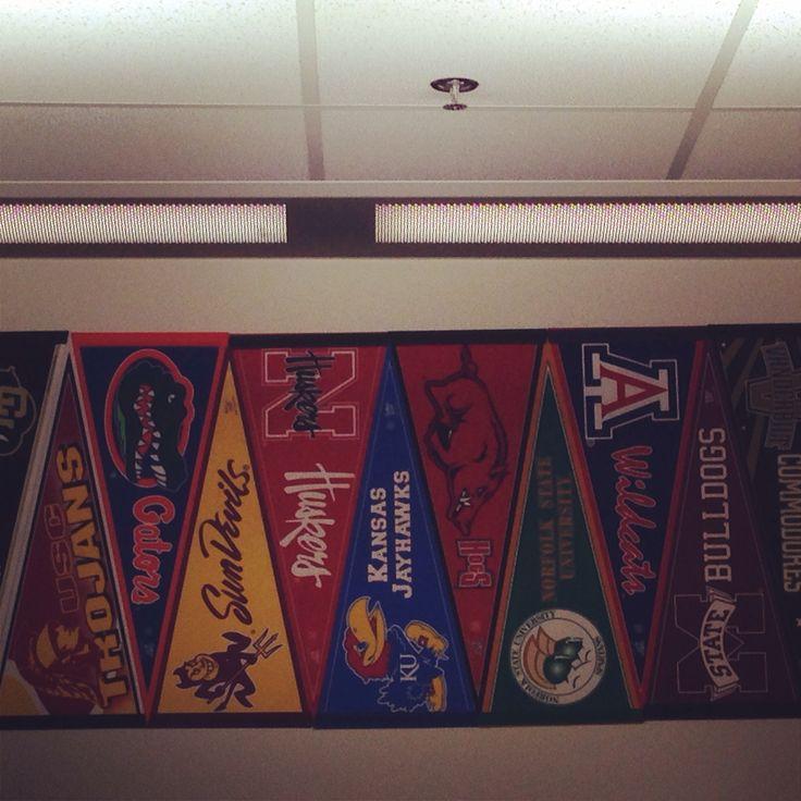 College pennant border