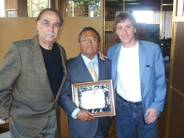 """Roberto """"Roby"""" Di Stefano en Mexico DF junto al actor Carlos Amador y en el centro el maestro Don Armando Manzanero"""