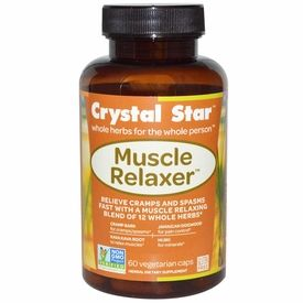 VitaDigest.com Offer - Crystal Star, Muscle Relaxer, 60 Veggie Caps