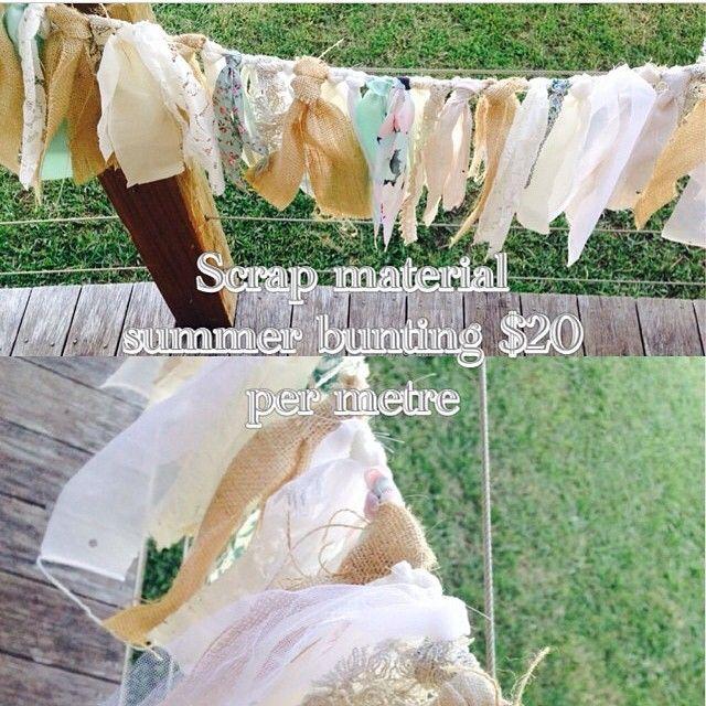 Scrap Material | Lace | Burlap | Bunting | Wedding | decor