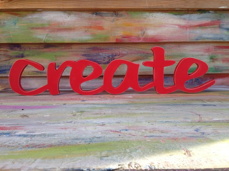 Wood sign home decor word CREATE  office shop bar by SunFla, $59.00