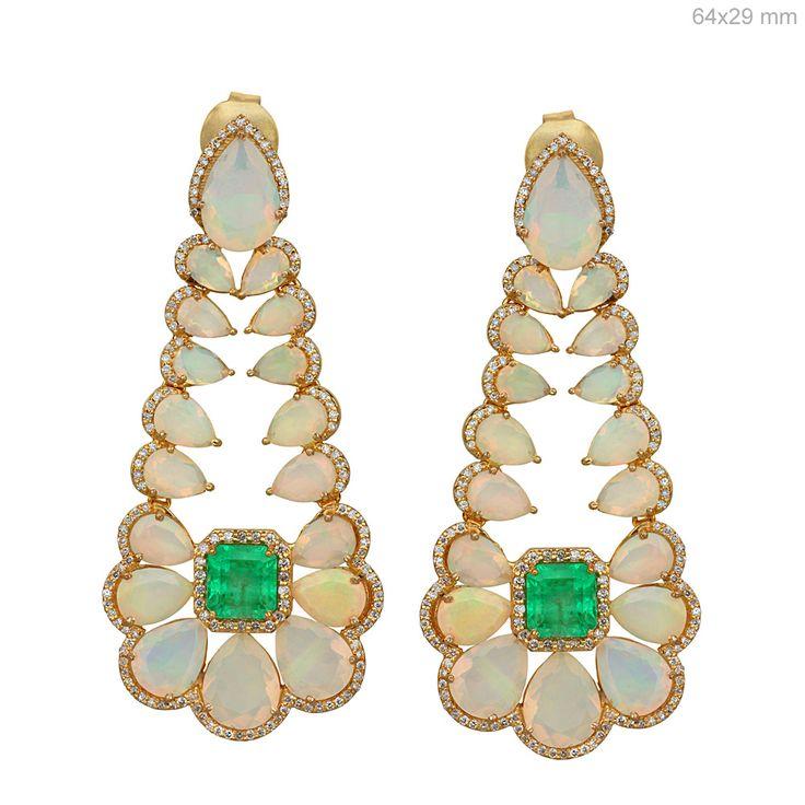 Colombian Emerald Opal Diamond Earrings #designerjewelry #jewelleryaddict #jaxemrata #jewelryaddict #jewelrymaking #jewelry #italianjewellery #ijl #londonjewellery #dubaijewellery #jckshow #bestselling #hotselling #hot #coolstuff #diamondstuds #solitaire #taylorswift #danbilzerian #selenagomez #kimkardashian #beyonce #beach #bikini #couturecollection #coutureshow #jcklasvegas #miamibeach @instagram #interior #interiordesign