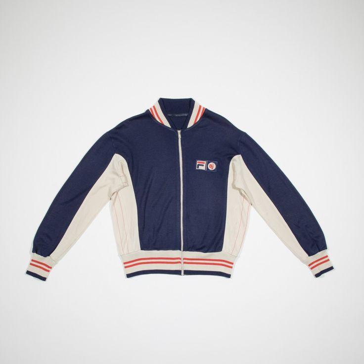 ✦ CLICK TO BUY ✦ FILA BJ - Blue wool sweatshirt - Giacca blu in lana - Millesimè Vintage clothing & accessories
