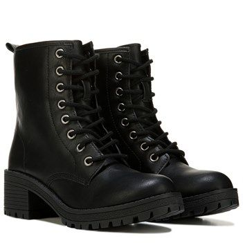 Madden Girl Eloisee Combat Boot Black