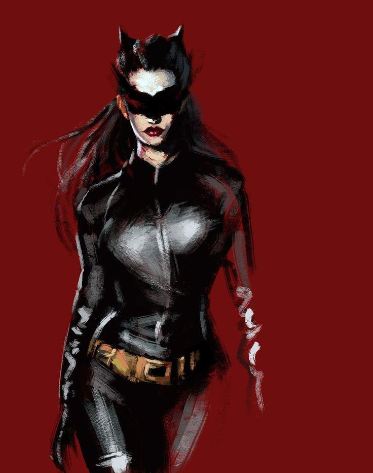 Anne Hathaway as Catwoman_Digital Art by RedPandaDee on deviantART
