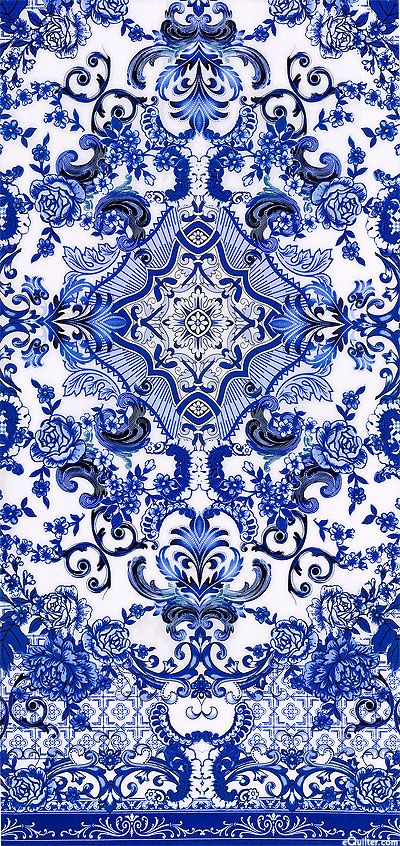 Blue & White - Porcelain Elegance - Quilt fabrics from www.eQuilter.com