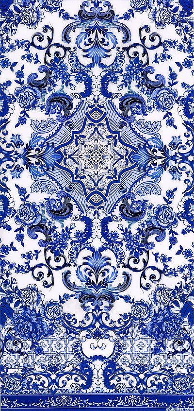 eQuilter Blue & White - Porcelain Elegance - Lapis Blue