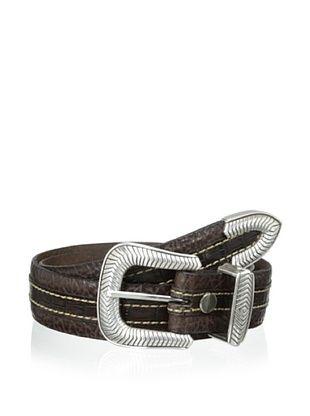 54% OFF Vintage Bison Men's Coloma Belt (Mahogany)