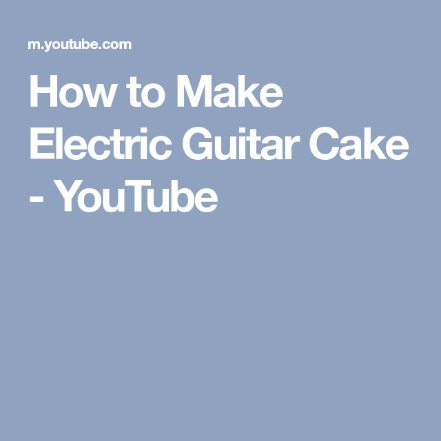 How to Make Electric Guitar Cake - YouTube