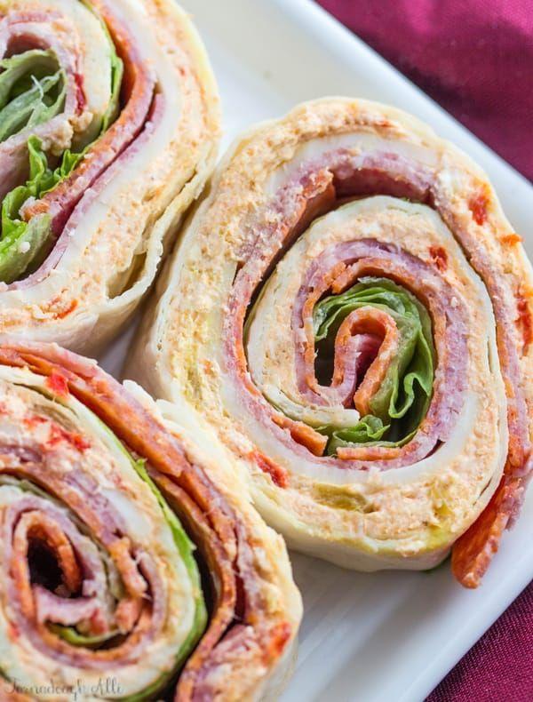 Italian Pinwheels {Ein köstlicher Party-Aperitif für eine Menschenmenge}