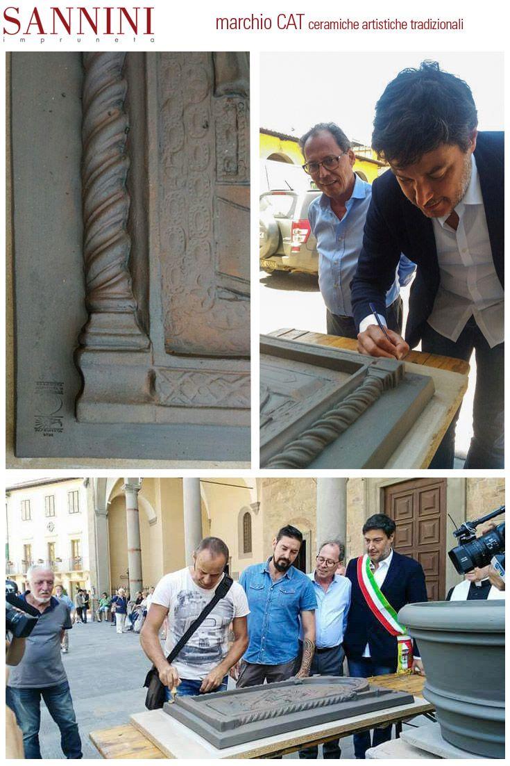 """MARCHIO CAT Lo scorso sabato 3 giugno in Piazza Buondelmonti ad Impruneta ha avuto luogo la cerimonia della """"Marchiatura pezzo 0""""  ......  http://www.sannini.it/post/news-single-034.html STAMP """"CAT"""" On Saturday, June 3rd - 2017, it took place the ceremony for the marking of the piece """"0"""" in Buondelmonti square in Impruneta (Florence - Italy)................................ http://www.sannini.it/post/news-single-034-en.html"""
