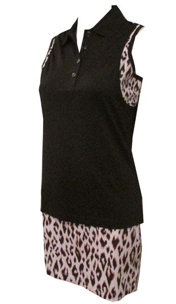 Need a new wild and comfy look on the golf course? Here's the Wild Thing Greg Norman Ladies Golf Outfit for you! #golf #ootd #lorisgolfshoppe