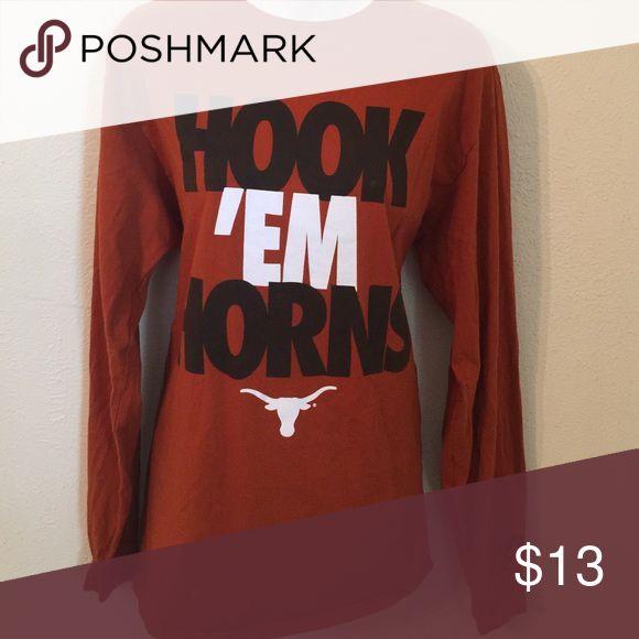 Texas Longhorns long sleeve t-shirt Hook'em horns long sleeve t-shirt russell Shirts Tees - Long Sleeve
