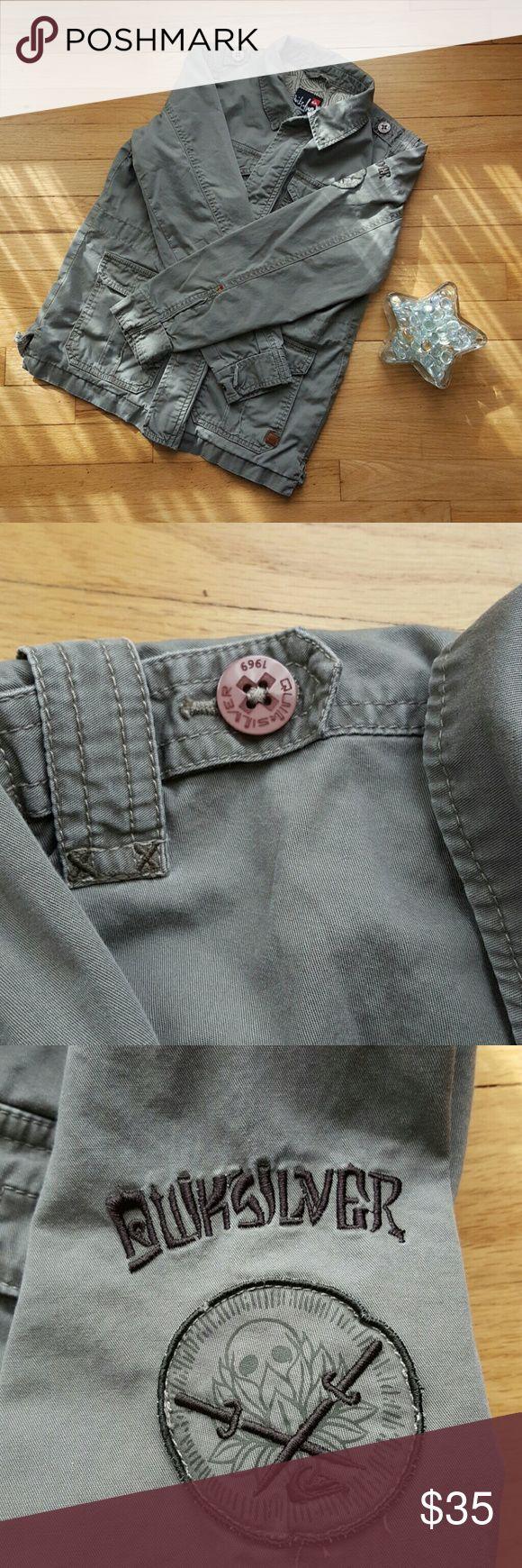 Quiksilver Women's Military Style Jacket Quiksilver Women's Military Style Jacket! 100% Cotton. No flaws! Excellent condition! Size Medium. Quiksilver Jackets & Coats