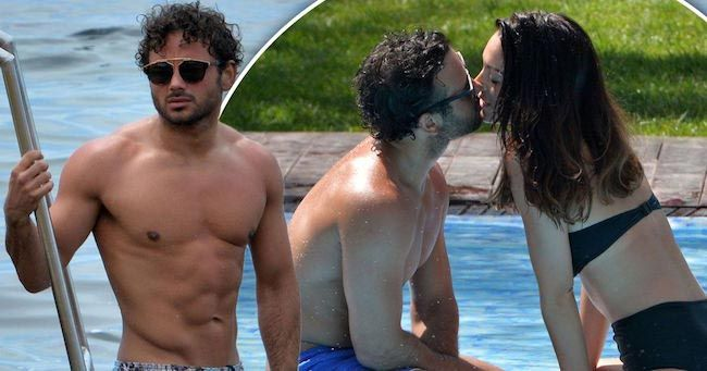 Ryan Thomas shows off newly ripped body with girlfriend in Ibiza...