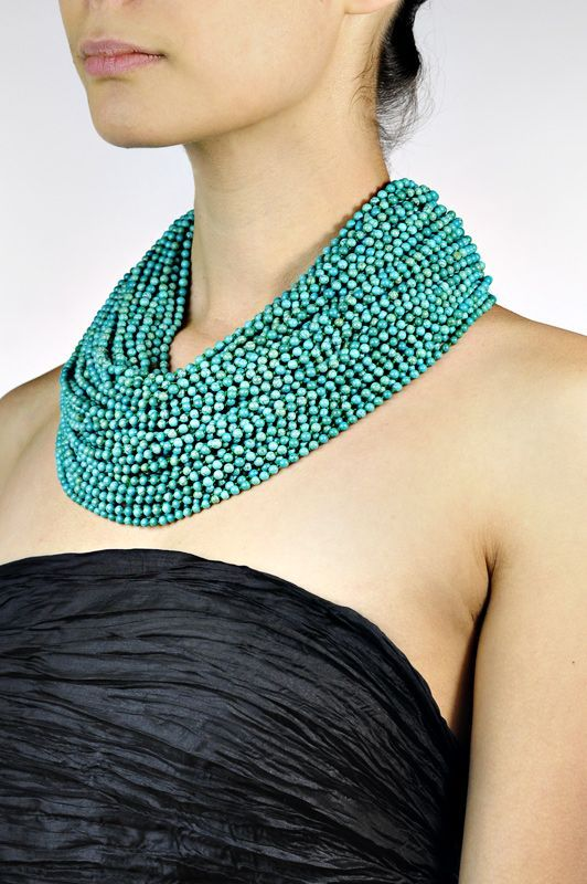 Monies Turquoise Multi Strand Necklace