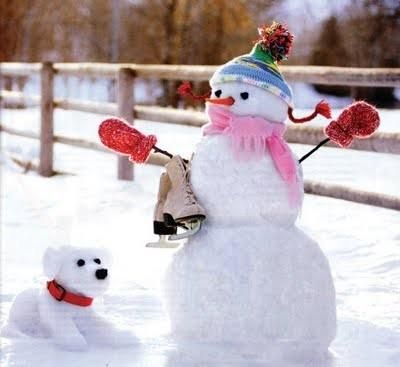 Snowman & his Snow Dog / - - Bookmark Your Local 14 day Weather FREE > www.weathertrends360.com/dashboard No Ads or Apps or Hidden Costs
