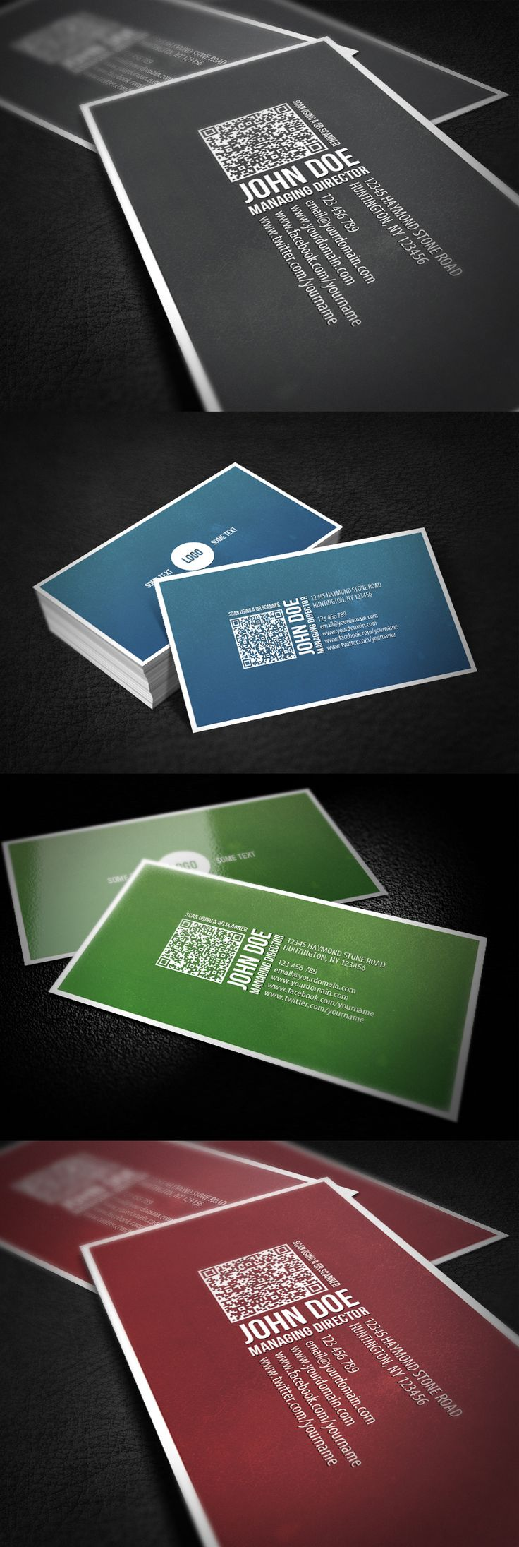 Business Card With QR Code by ~glenngoh on deviantART  http://www.techirsh.com