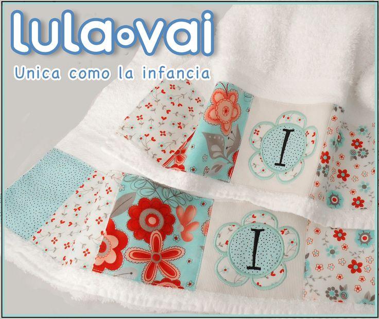 Set de toallón y toalla modelo iniciales.  Código TO0618. Bordadas sobre toalla de puro algodón. Diseños exclusivos de Lulavai      MEDIDAS: Toallón 140 x 70 cm Toalla 88 x 44 cm     www.lulavai.com