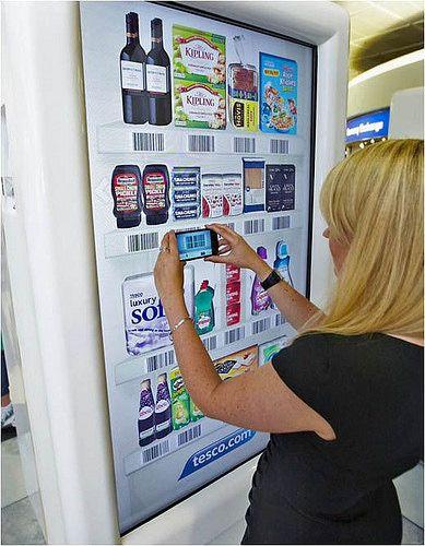 UK Interactive Advertising Campaign Creates Virtual Supermarket Using Digital Signage