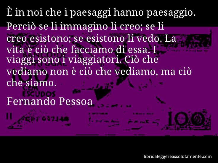 Cartolina con aforisma di Fernando Pessoa (1) - Libri da leggere assolutamente