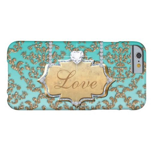Glitter Damask Love Monogram Cell Phone Cover iPhone 6 Case