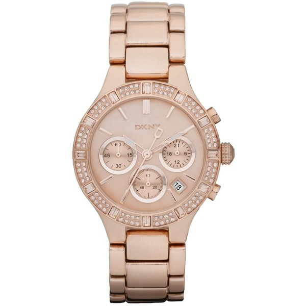 Dkny Watch, Women's Chronograph Rose Gold Tone Stainless Steel Bracelet 38mm Ny8508 found on Polyvore. Maybe it's time to start wearing a watch again