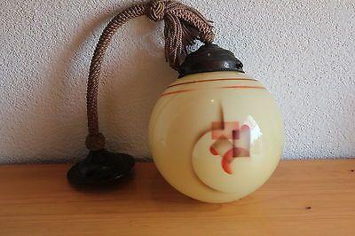 Art Deco Deckenlampe Lampe Kugel Spritzdekor Bauhaus Leuchte Pendelleuchte | eBay