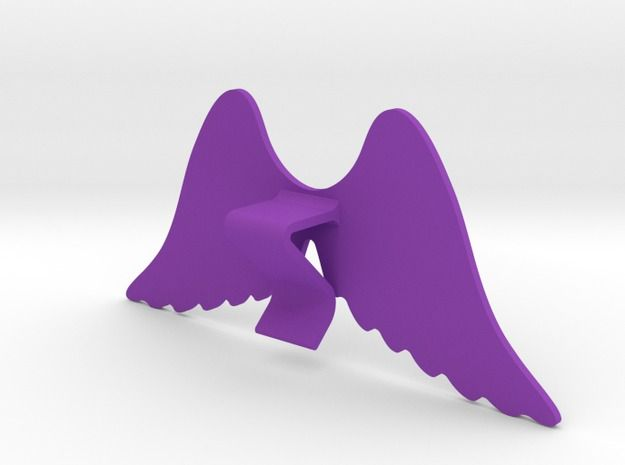 Mug & glass accessories wings 4 3d printed Accessories For Your Home Purple Strong & Flexible Polished - https://www.shapeways.com/model/2758955/mug-glass-accessories-wings-4.html?materialId=6