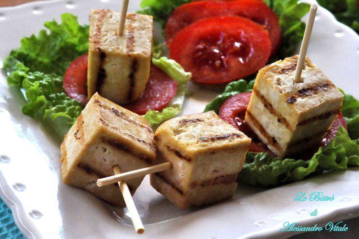 Tofu marinato alla griglia