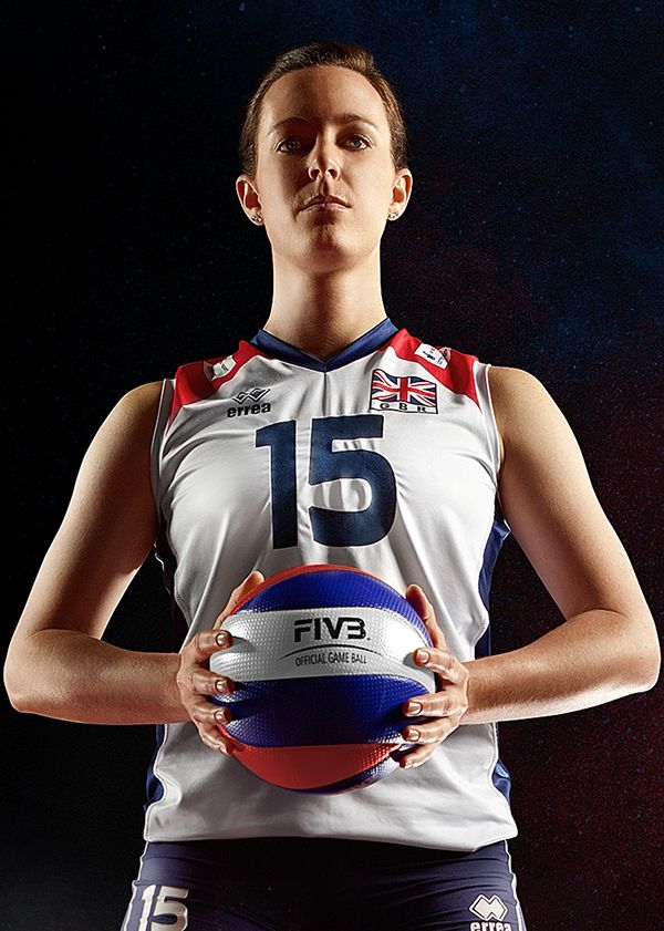 GB Olympic Women's volleyball team, part of the Global Olympic Art Series