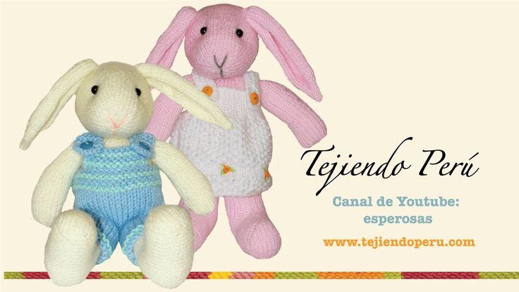 Conejos tejidos en dos agujas o palillos (Parte 5: brazos)