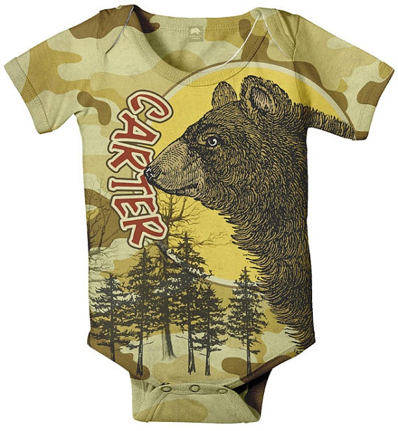 Camouflage Baby Boy Onesie Personalized Bear by SimplySublimeBaby, $24.95