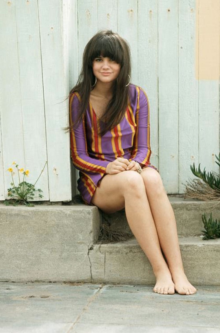 Linda Ronstadt in one of three of her Betsey Johnson dresses she kept in her bag in case the airport lost her luggage.