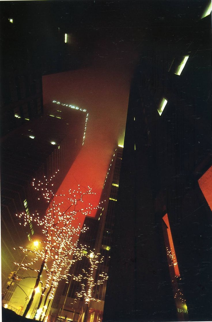 New York © Ernst Haas. I like the skylight in this photo. I also like how the tree looks yellow dye to the lights.