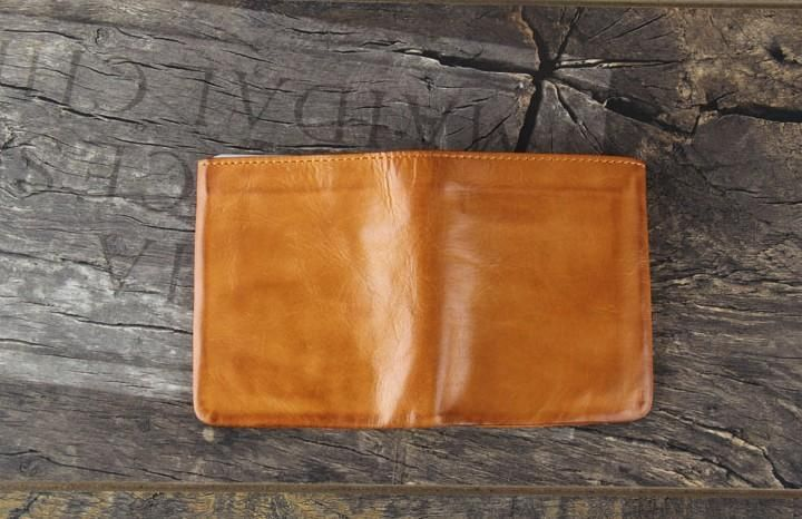 Men/'s Small Handmade Genuine Leather Collapsible Wallets Bifold Purse