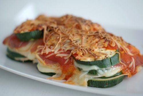 Comida sana y sin gluten: lasaña de calabacín fitness. Muy sabrosa! Healthy and gluten free food: zucchini lasagna. Very tasty!
