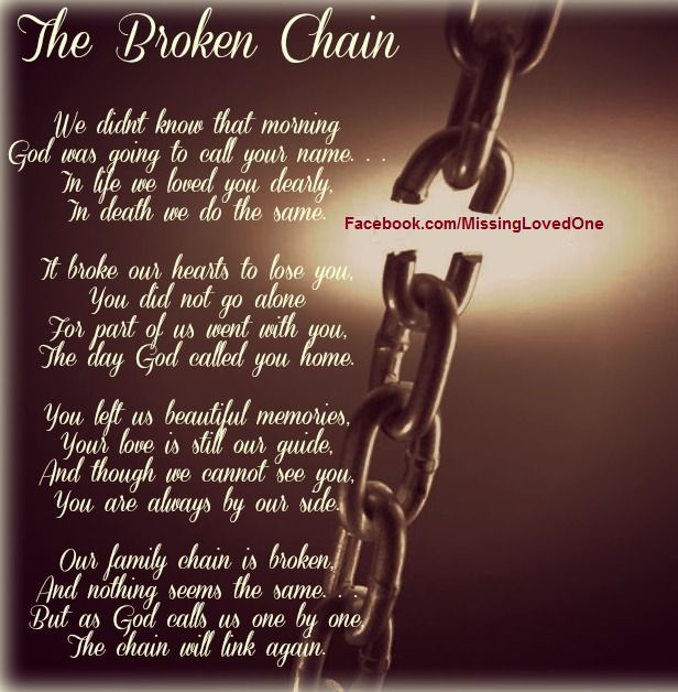 The broken chain