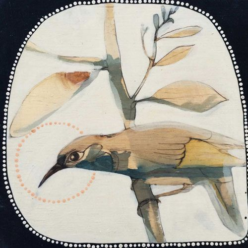 Crescent HoneyEater artist: dana kinter