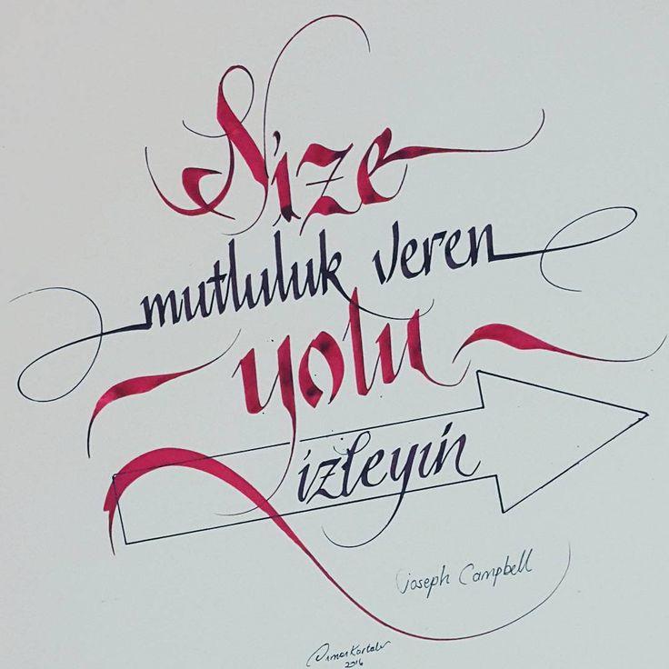 #josephcampbell#kaligrafi#calligraphy#art#design#handmade#handsome#turkey#istanbul#tattoo#tipografia#typography#tipografi#kafkaokur#pen#pilotparallelpen#red#ink#graphicdesign  (Istanbul, Turkey)